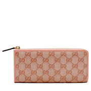 Gucci GG Crystal L-Shaped Zip Around Continental Wallet