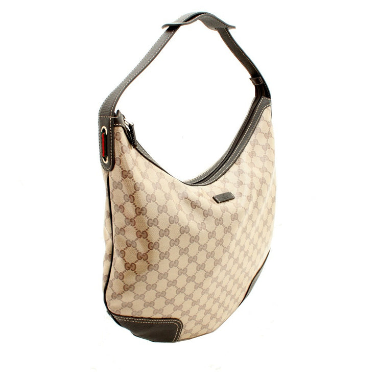 Gucci GG Crystal Princey Hobo Bag- Brown