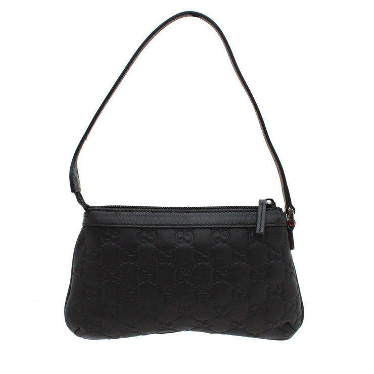 Gucci Small Guccisima Leather Evening Bag- Black