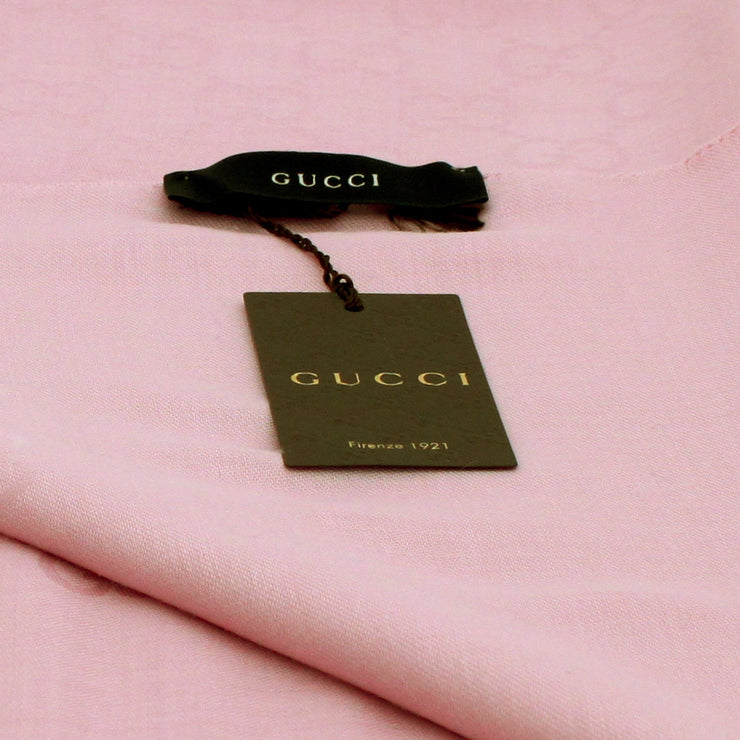 Gucci GG Silk & Wool Wide Shawl Scarf- Pink