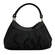 Gucci GG Denim Small Hobo Bag- Black