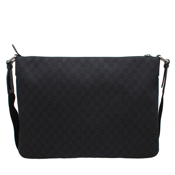 Gucci Men's GG Denim Messenger Bag- Black
