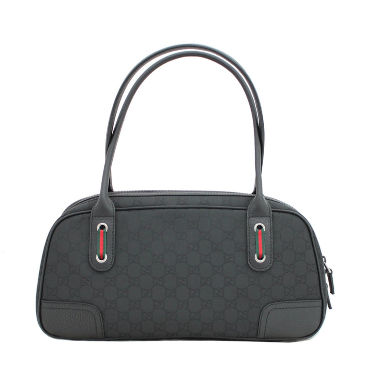Gucci GG Nylon Princey Boston Bag- Black