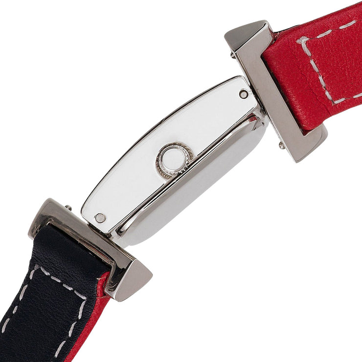 Tommy Hilfiger Ladies' Navy-Red Reversible Leather Strap Watch