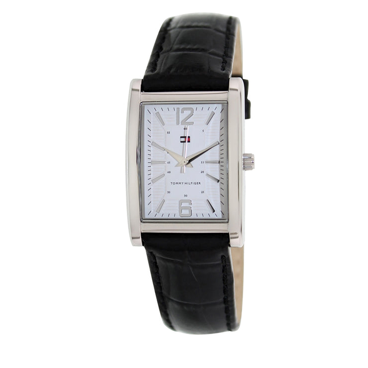 Tommy Hilfiger Watch 1781047- Black Leather with Rectangular Dial Ladies Watch