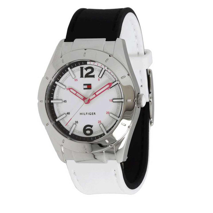 Tommy Hilfiger Watch 1781191- Reversible Black-White Silicone Ladies Watch