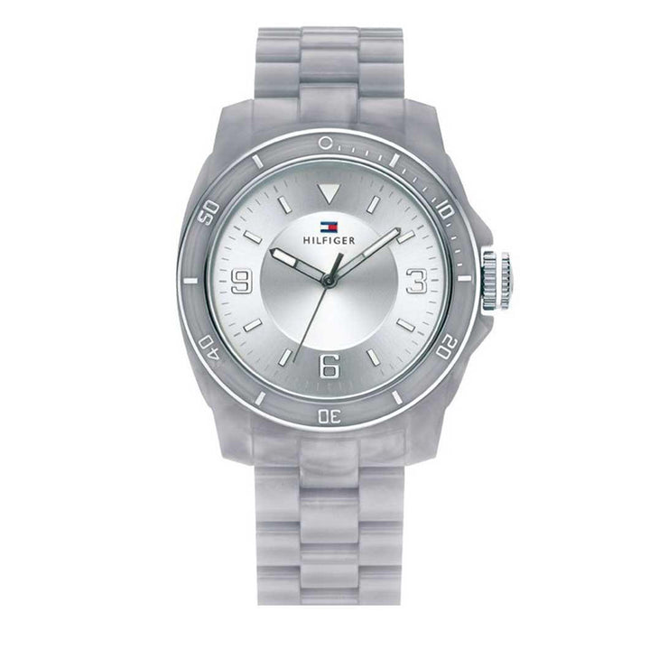 Tommy Hilfiger Ladies' Grey Acrylic Strap Round Dial Watch