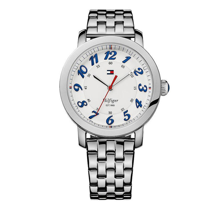 Tommy Hilfiger Watch 1781216-  Round White Dial Stainless Steel Ladies Watch