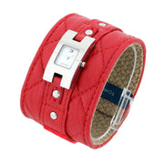 Tommy Hilfiger Ladies' Red Leather Cuff Watch