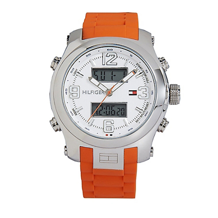 Tommy Hilfiger Watch 1790947- Orange Silicon Analog-Digital Men's Watch