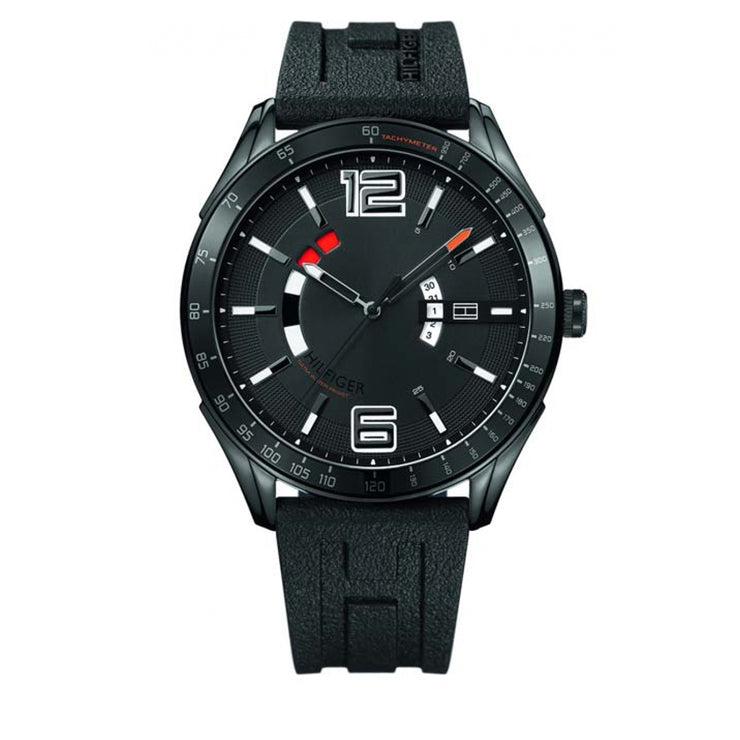 Tommy Hilfiger Watch 1790797- Black Silicon with Round Black Dial Men Watch