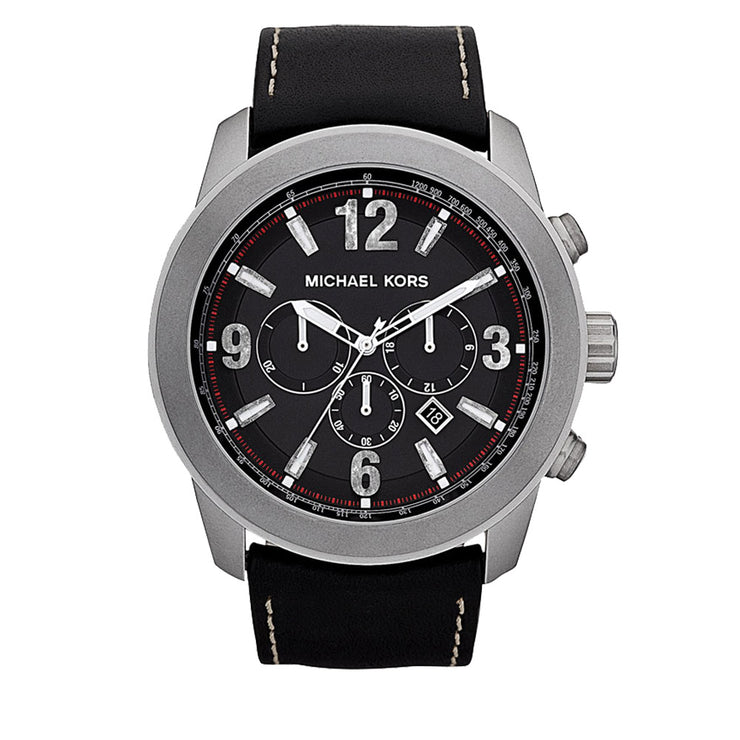 Michael Kors Men's Runway Extra Large Leather Strap Watch