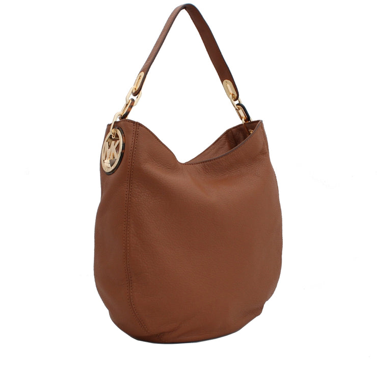 Michael Kors Fulton Medium Chain Hobo Bag- Luggage