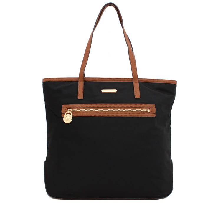Michael Kors Kempton Nylon Large North South Tote Bag- Black