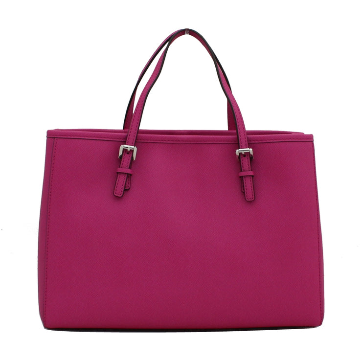 Michael Kors Jet Set Travel Medium East West Tote Bag- Fuschia