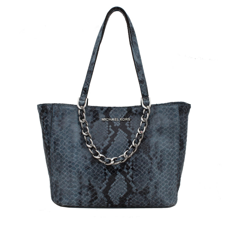 Michael Kors Harper Medium East West Tote Bag- Denim