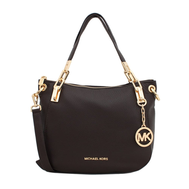 Michael Kors Brooke Medium Shoulder Tote Bag- Dark Chocolate