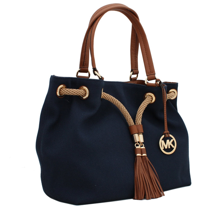 Michael Kors Large Marina Gathered Tote Bag- Gold