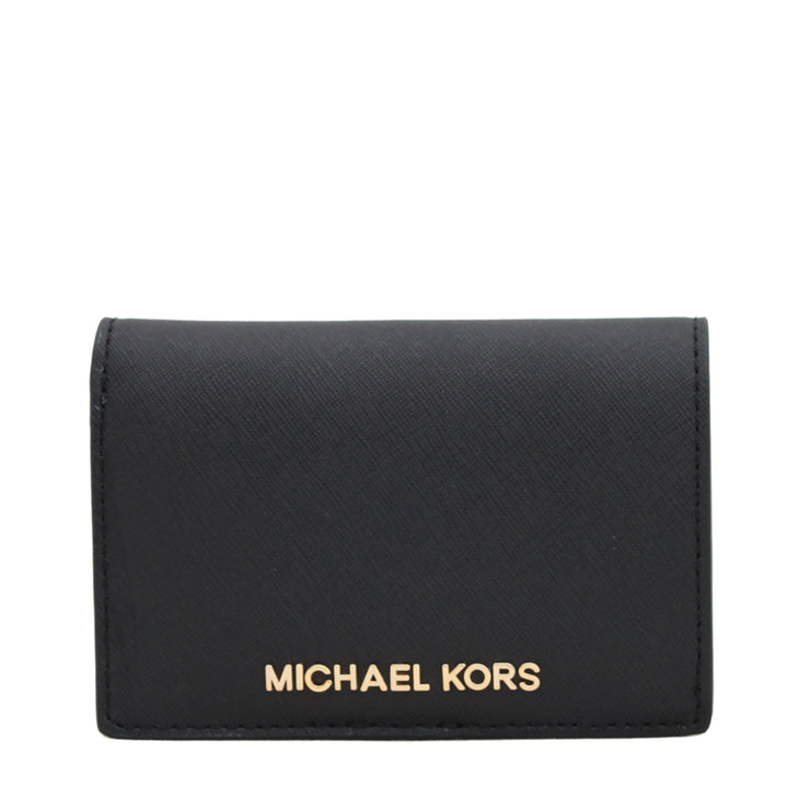 Michael Kors Medium Jet Set Travel Slim Wallet- Black