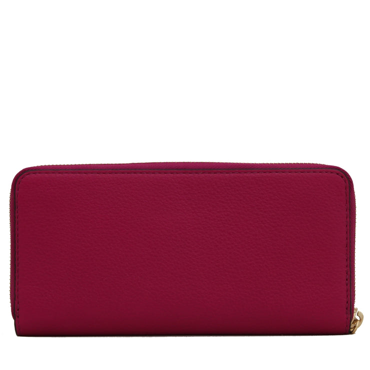Michael Kors Bedford Continental Leather Wallet- Fuschia