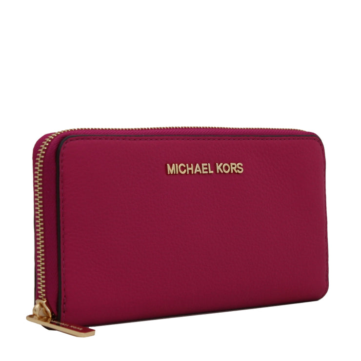 Michael Kors Bedford Continental Leather Wallet- Scarlett