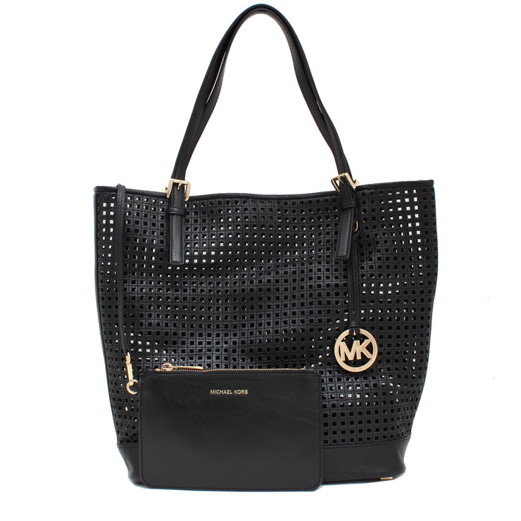 Michael Kors Bridget Large Leather Tote Bag- Black