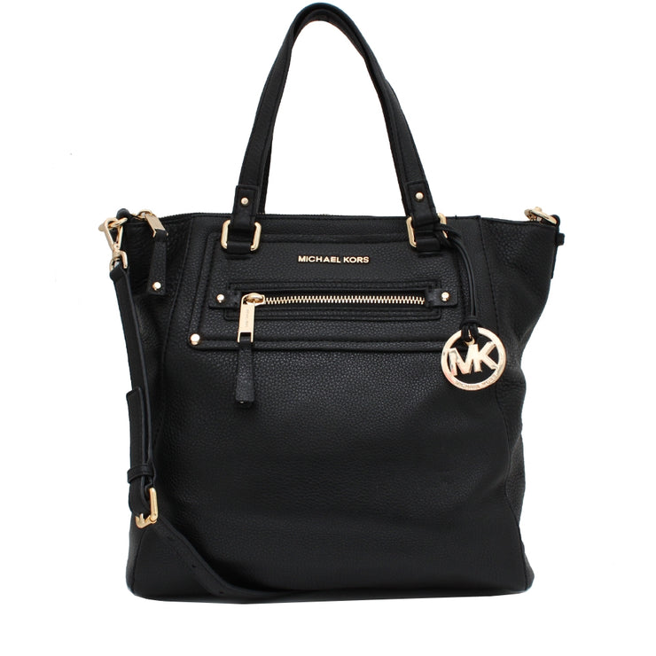 Michael Kors Gilmore Large Leather Tote Bag- Black