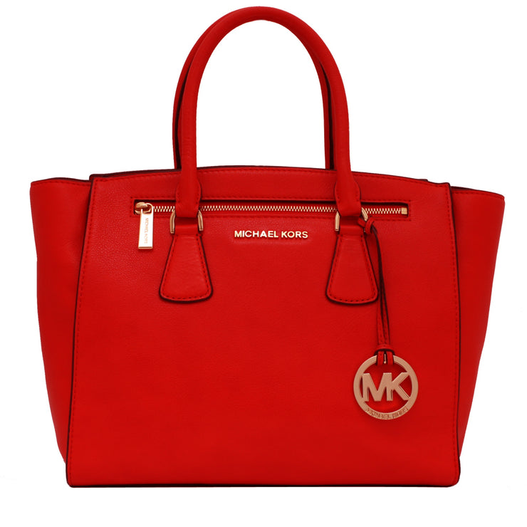 Michael Kors Large Sophie Satchel Bag- Mandarin