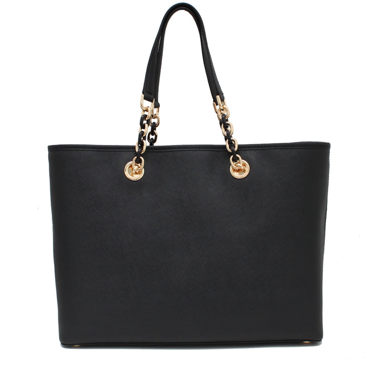 Michael Kors Cynthia Large Leather Tote Bag- Dark Dune