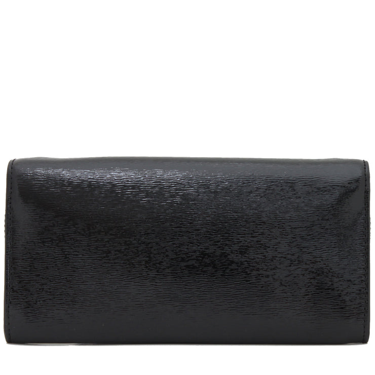 Michael Kors Lana Leather Clutch Bag- Black