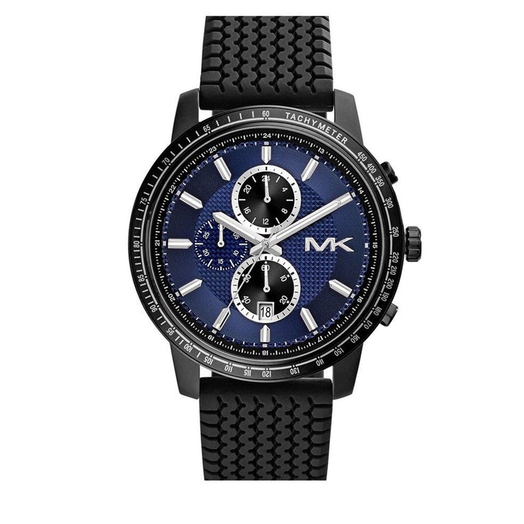 Michael Kors Watch MK8364- Granger Black Silicone Chronograph Men Watch