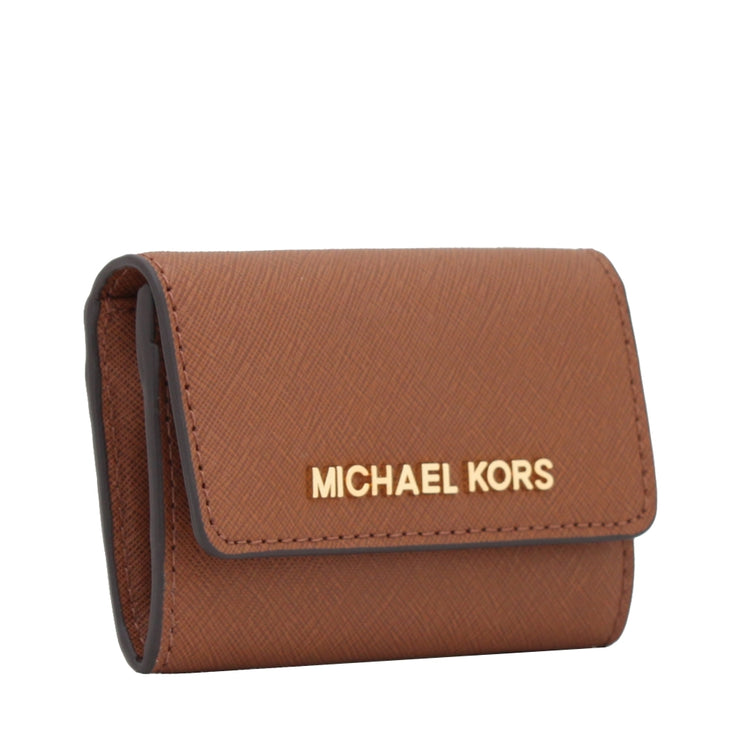Michael Kors Jet Set Travel Patent Leather Coin Purse- Dark Red