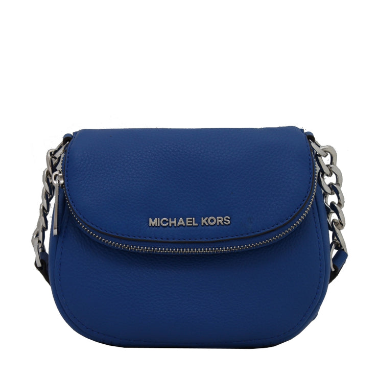 Michael Kors Bedford Leather Flap Crossbody Bag- Electric Blue
