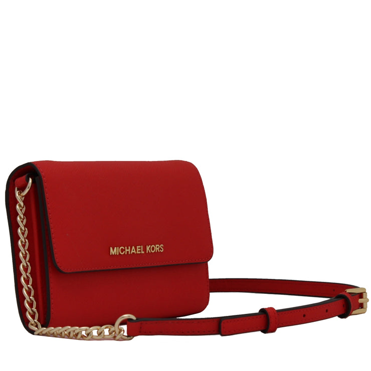 Michael Kors Jet Set Travel Saffiano Leather Crossbody Bag- Mandarin