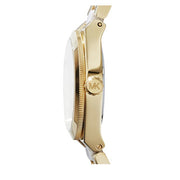 Michael Kors Watch MK6122- Mini Channing White Acetate Gold Stainless Steel Ladies Watch