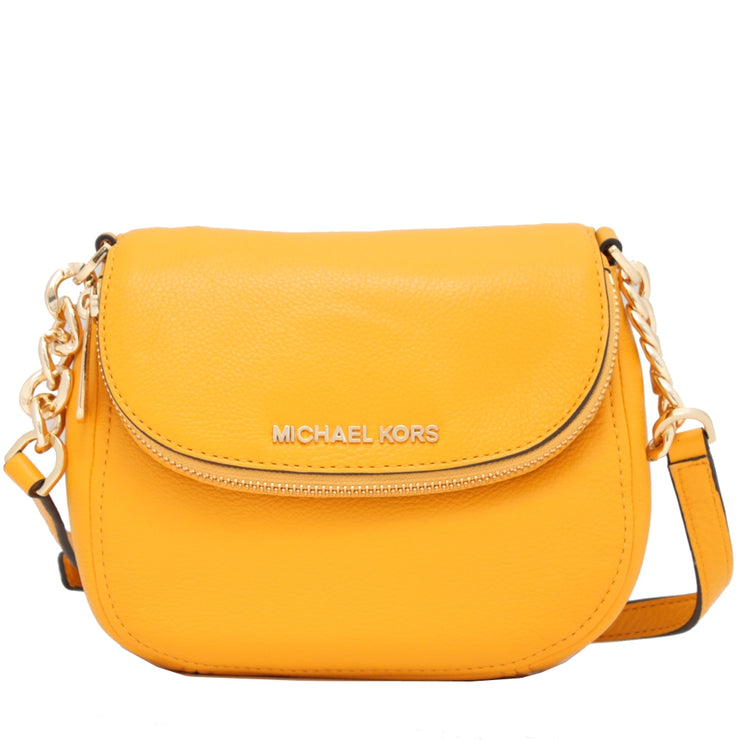 Michael Kors Bedford Leather Flap Crossbody Bag- Sun