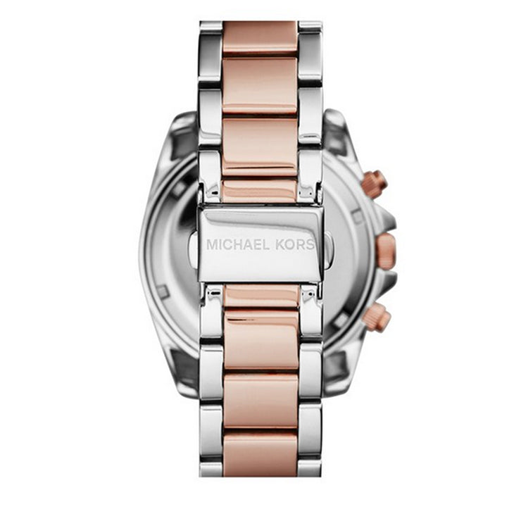 Michael Kors Watch MK6093- Blair Two Tone Stainless Steel Chronograph Ladies Watch