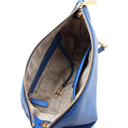 Michael Kors Jet Set Chain Leather Top Zip Messenger Bag- Steel Blue
