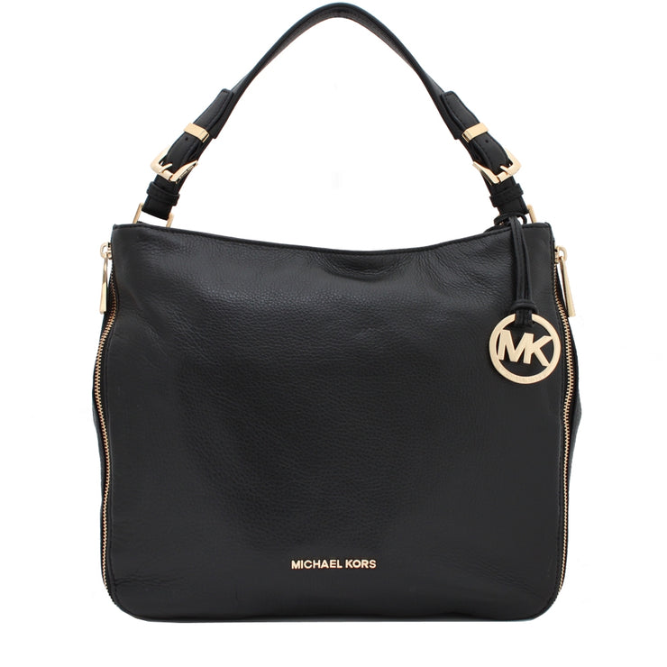 Michael Kors Essex Leather Large Convertible Shoulder Bag- Black