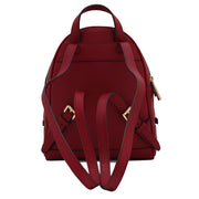 Michael Kors Rhea Zip Extra-Small Leather Back Pack Bag- Cherry