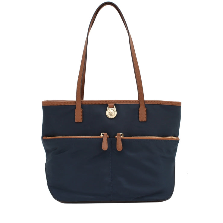 Michael Kors Kempton Medium Nylon Pocket Tote Bag- Navy