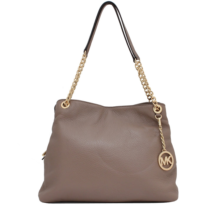Michael Kors Jet Set Chain Large Leather Shoulder Tote Bag- Dark Dune