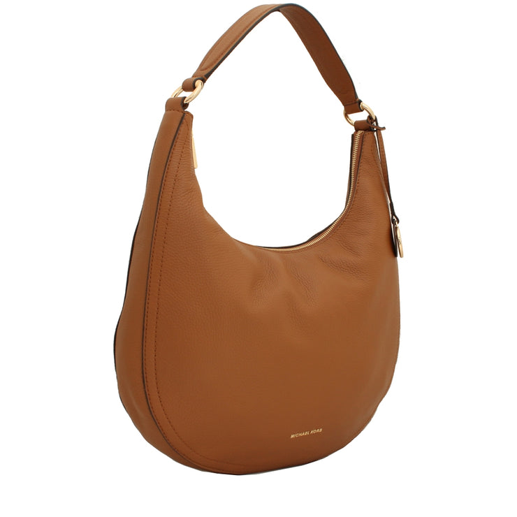Michael Kors Lydia Leather Large Hobo Bag- Acorn