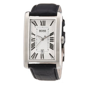 Hugo Boss Watch 1512707- Black Leather with Rectangular Dial Men Watch