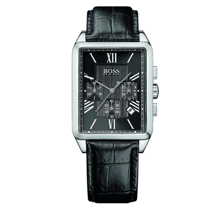 Hugo Boss Watch 1512578- Black Leather Chronograph Men Watch