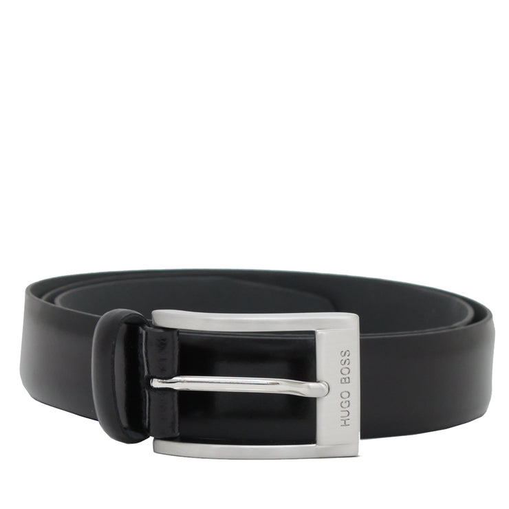 Hugo Boss Leather Belt- Black