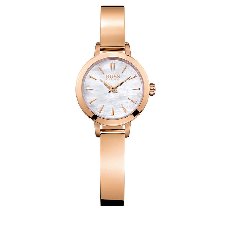 Hugo Boss Watch 1502367- Rose Gold with Round Mother-of-Pearl Dial Ladies Watch