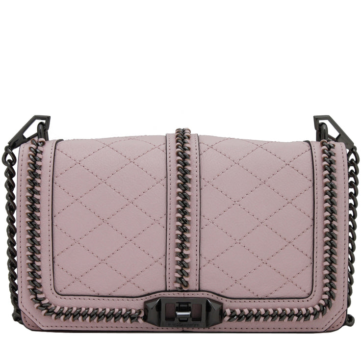 Rebecca Minkoff Miami Love Crossbody Bag- Baby Pink