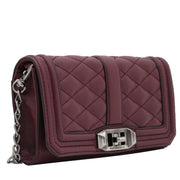 Rebecca Minkoff Love Clutch Bag- Burgundy