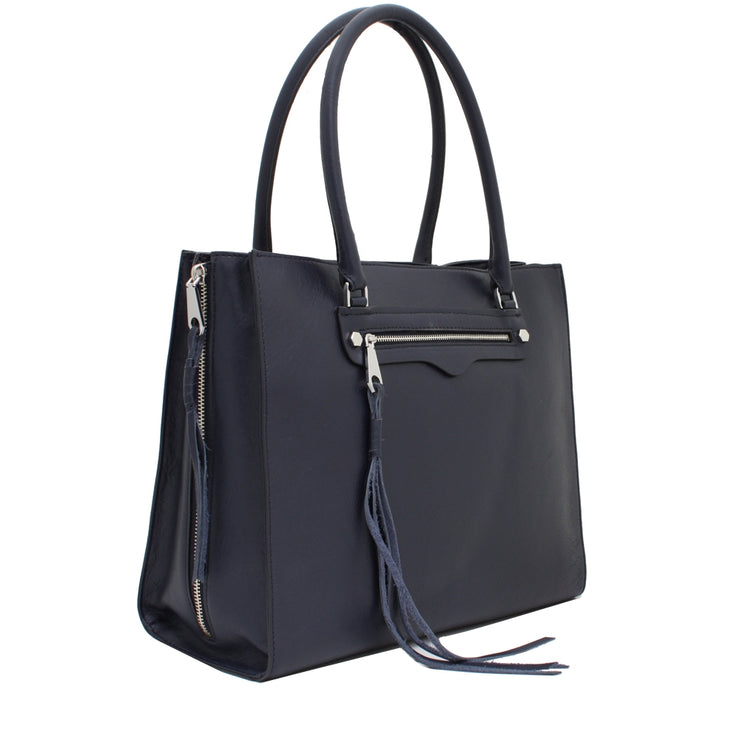 Rebecca Minkoff Side Zip Regan Tote Bag- Moon